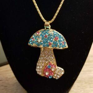 Betsey Johnson Magic Mushroom with crystals
